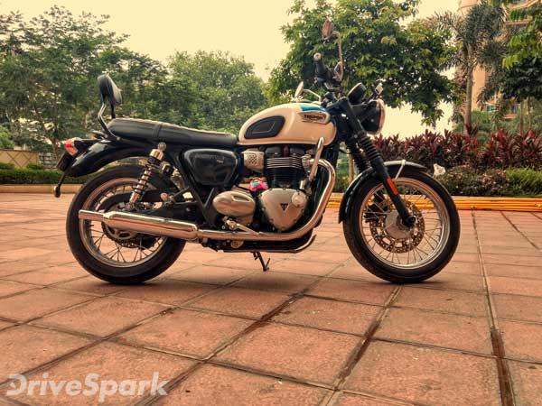 2016 Triumph Bonneville T100 First Ride Review Drivespark Reviews
