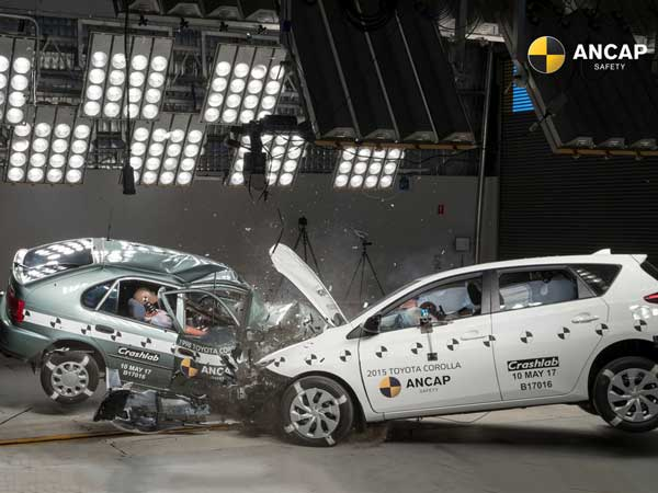 1998 And 2015 Toyota Corolla Model Crash Test By ANCAP