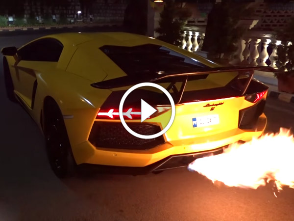 Lamborghini Aventador In Bangalore Is Loud And Loves To Shoot Flames