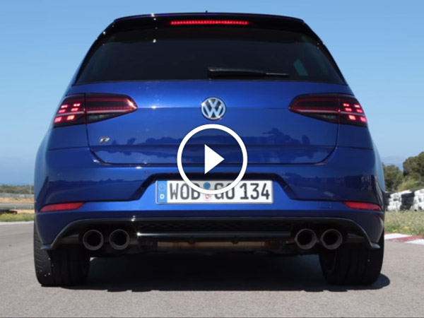 golf r performance akrapovic exhaust note video drivespark. Black Bedroom Furniture Sets. Home Design Ideas