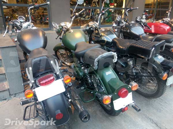 Classic 500 Military Green Spotted At Royal Enfield Dealership