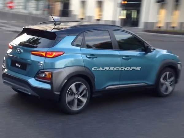Hyundai Kona Compact Suv Spotted Undisguised Drivespark
