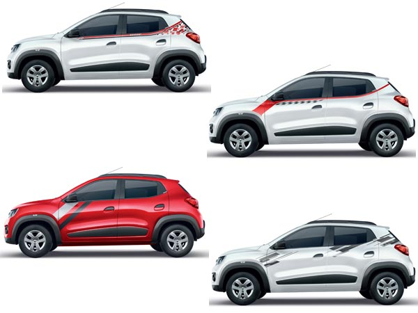 Renault kwid live for more edition receives 7 new graphic designs