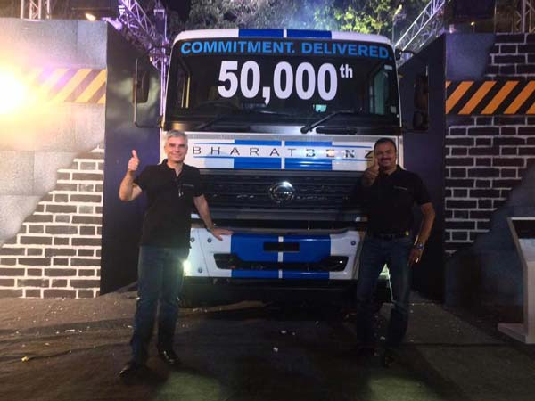BharatBenz Achieves 50,000 Truck Sales In India