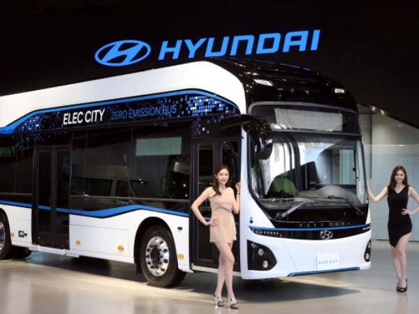 hyundai reveals all electric bus named elec city drivespark news. Black Bedroom Furniture Sets. Home Design Ideas