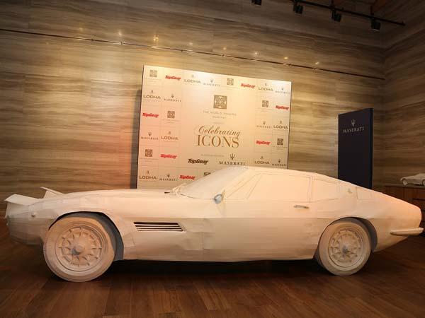 Maserati Revealed Gorgeous Paper Art Installation Its Iconi Model Ghibli