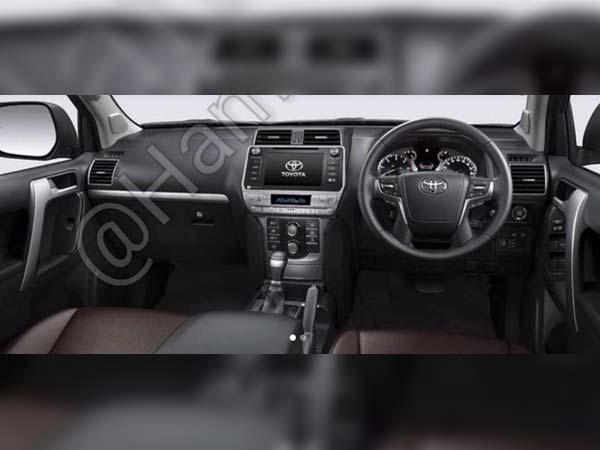 2018 toyota prado interior. plain interior 2018 toyota land cruiser facelift leaked in images toyota prado interior u