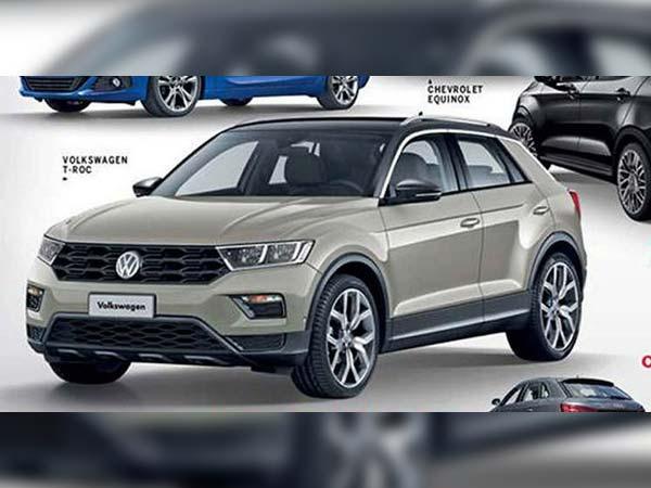 volkswagen t roc production version image leaked drivespark news. Black Bedroom Furniture Sets. Home Design Ideas