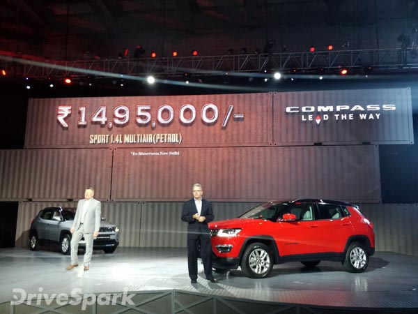 Jeep Comp Price In India