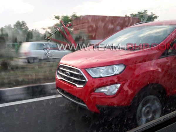 Ford Ecosport Facelift Spotted Testing