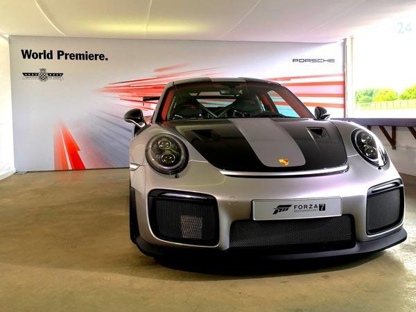 porsche 911 gt2 rs revealed at goodwood festival of speed drivespark. Black Bedroom Furniture Sets. Home Design Ideas