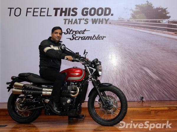 Triumph Street Scrambler Launched In India; Priced At Rs 8.10 Lakh