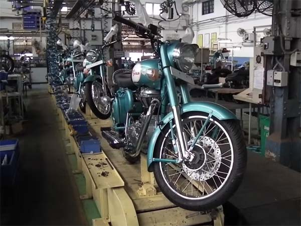 Royal Enfield Production Plant Vallam Vadagal Begins Operations