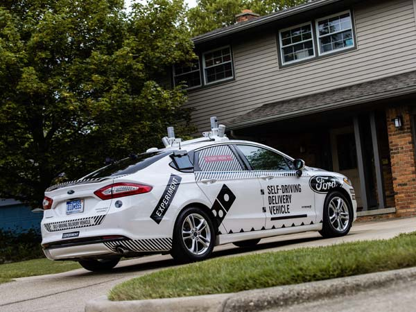 Ford And Dominos Team Up To Test Delivery Of Pizza By Self-Driving Cars