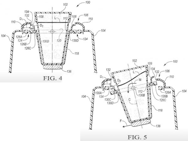 Ford Patents Self-Levelling Cup Holders