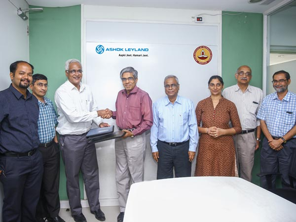 Ashok Leyland and IIT Madras Signs MOU For Sponsoring 'Centre of Battery Engineering'