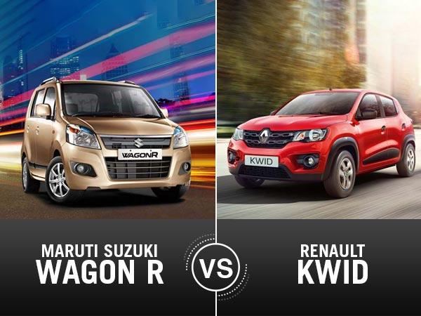 Specification Comparison Renault Kwid Amt Vs Maruti Suzuki Wagon R Drivespark News