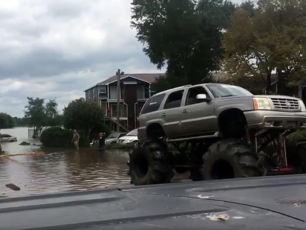 Monster Trucks To The Rescue | Monster Trucks Show Their Worth In Hurricane Harvey Rescue Situations