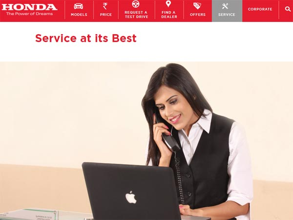 Honda Cars India Launches New Customer Service Section On Website
