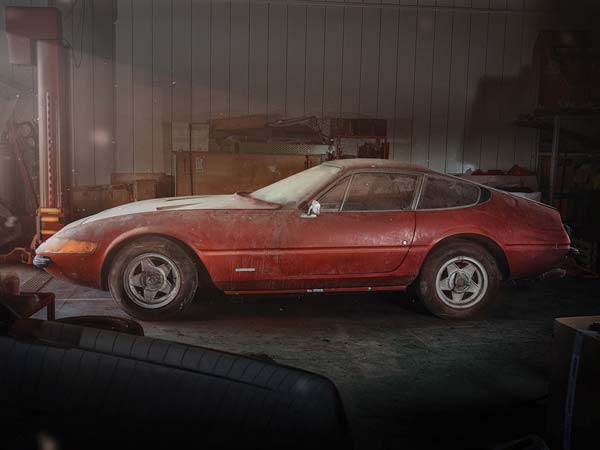 One-Off 'Barn Find' Ferrari Daytona With Alloy Body Sells For $2.17 Million At Auction