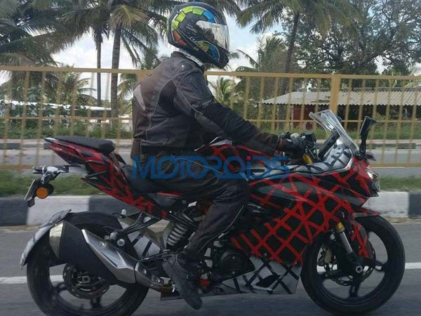 Spy Pics: TVS Apache RR 310S Spotted Again; Launch Likely By 2017