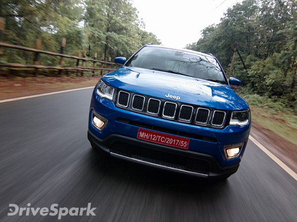 Jeep Compass 1.6-Litre Diesel Model Spotted Testing In India
