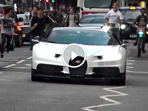 Bugatti Chiron Gets Chased By Supercar Spotters In London