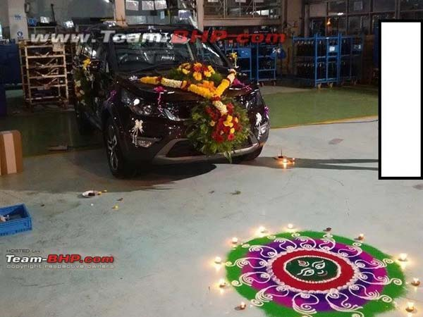Spy Pics: Tata Hexa Limited Edition Spotted