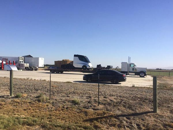Tesla Semi-Truck Spotted Ahead Of Reveal