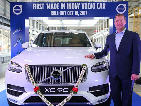 Volvo Xc90 Made In India Rolled Out Bangalore Plant
