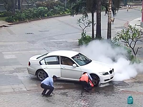 BMW 3-Series Catches Fire In Mumbai; Owner Alleges Negligence By BMW