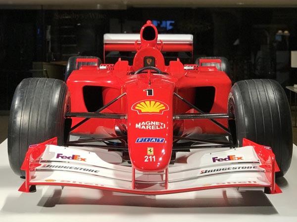 Sotheby's Auctions Brings $7504000 Ex-Schumacher Ferrari F2001