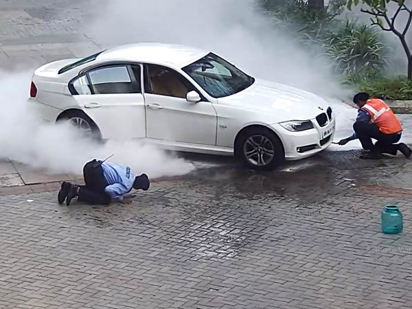 BMW Catches Fire In Mumbai; Owner Alleges Denying Of Services By Roadside Assistance