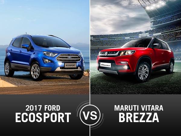 Ford Ecosport Vs Maruti Brezza Comparison On Specifications Features Price