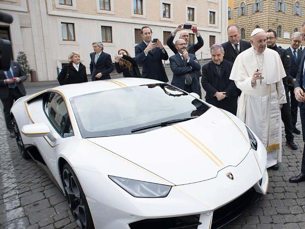 Pope Francis Gifted Lamborghini Huracan RWD — 'Holy' Raging Bull To Be Auctioned For Charity