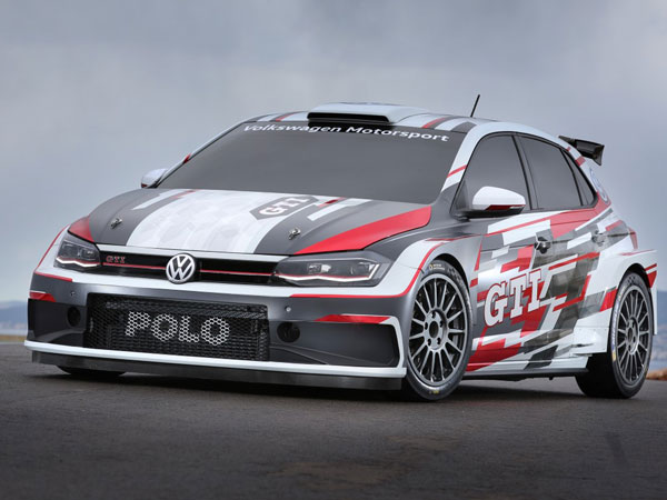 This is the 2018 Volkswagen Polo GTI R5 rally auto