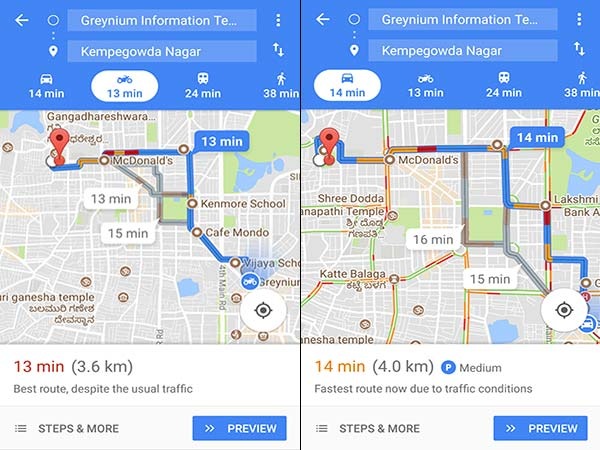 Google Maps Gets Two Wheeler Mode In India — A World's First Feature