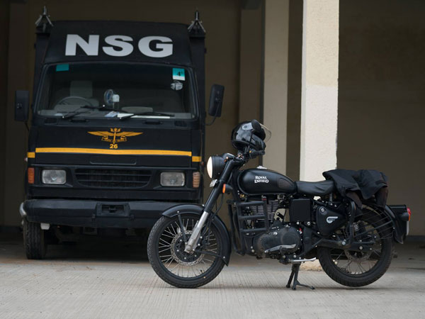NSG Commando Ridden Royal Enfield Stealth Black Motorcycles For Sale; Here's How