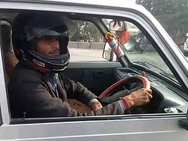 Man Fined For Not Wearing Helmet While Driving In Rajasthan