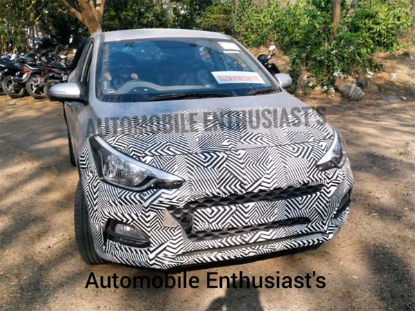 Hyundai i20 Facelift Spied At ARAI In Pune; India Launch At Auto Expo 2018