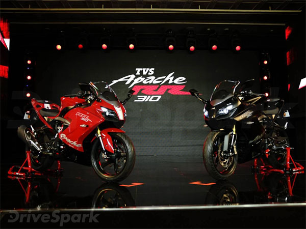 TVS Apache RR 310 Launched In India At Rs 2.05 Lakh: Available In Two Colours – Racing Red and Sinister Black