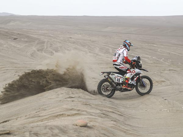 Dakar 2018 Stage 5 Updates Aravind KP Crashes Out CS Santosh Keeps It Steady