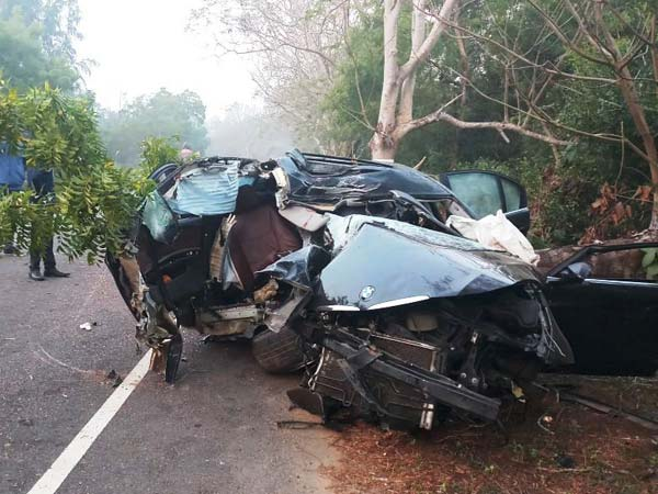 BMW 3-Series Sedan Mangled In A Horrific Crash In Odisha