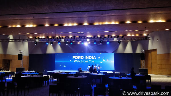 We're at the unveiling of the Ford Freestyle crossover in India