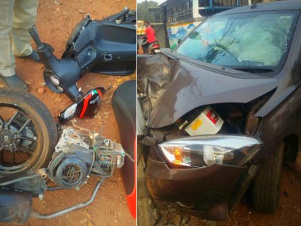Tata Tiago Crashes Into Aprilia SR 150 — Scooter Split In Half