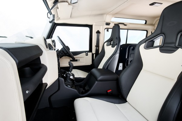 land rover defender works v8 interior