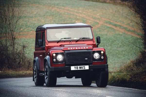 land rover defender works v8 front design
