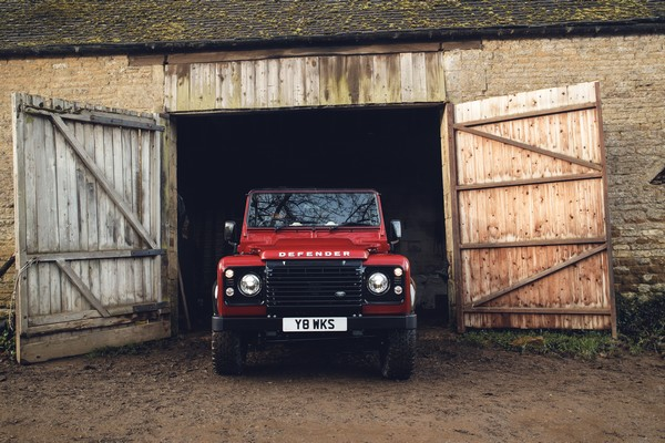 land rover defender works v8 front profile