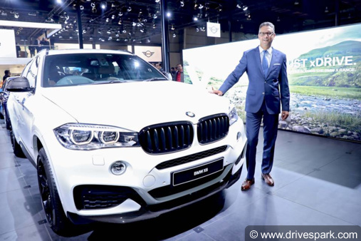 auto expo 2018 bmw x6 xdrive35i m sport launched at rs 94. Black Bedroom Furniture Sets. Home Design Ideas