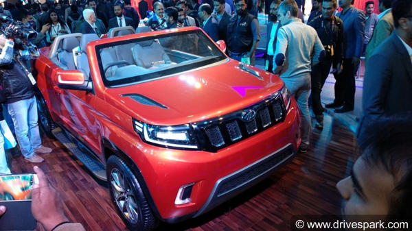 Mahindra TUV Stinger Convertible SUV Concept Revealed